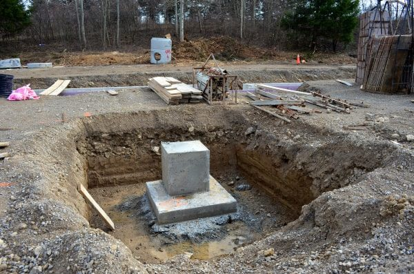 Exemplo de fundações rasas